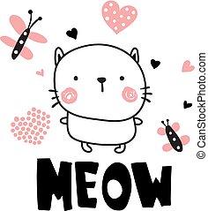 adorável, gato