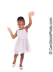 adorabile, africano, piccola ragazza