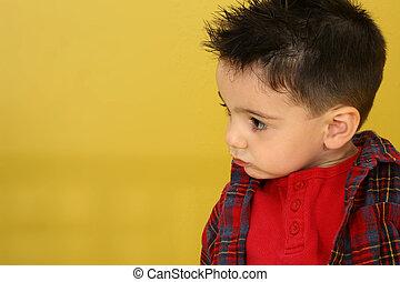 adorabile, bambino primi passi, ragazzo