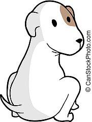 adorabile, cane, illustrazione