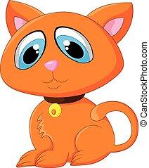 adorabile, proposta, cartone animato, gatto