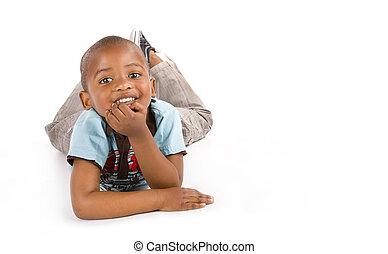 Adorable 3 year old black boy