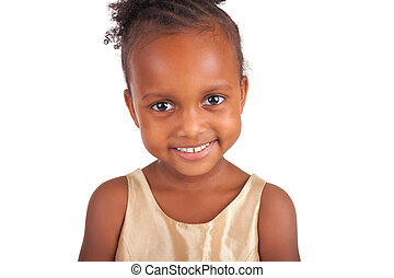 adorable, africaine, petite fille