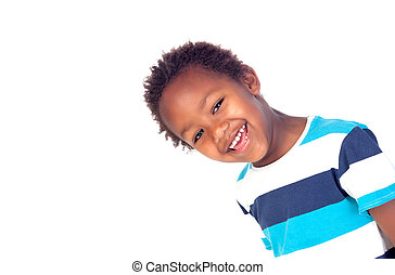 Adorable afroamerican child looking at the camera