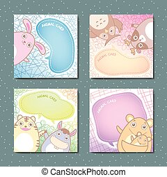 adorable animal memo pads set