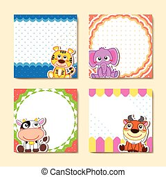 adorable animal memo pads set