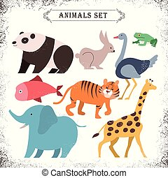adorable animals set