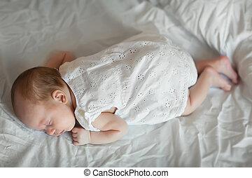 Adorable baby girl sleeping