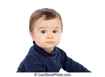 Adorable baby looking at camera
