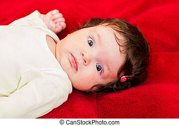 Adorable baby - Portrait of adorable few months old baby