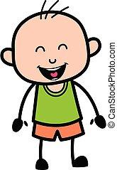 Adorable Bald Boy cartoon