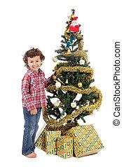 adorable boy in Christmas
