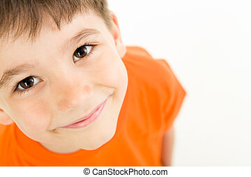 Adorable boy - Photo of adorable young boy looking at camera...