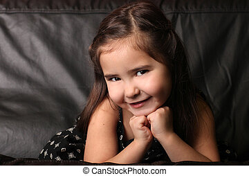 Adorable Child With Sweet Smile