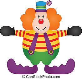 Adorable Clown - Scalable vectorial image representing a...