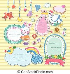adorable colorful animals memo set