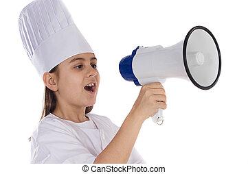 Adorable cooking girl