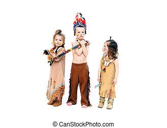 Adorable Costumed Indians - Adorable kids dressup for...