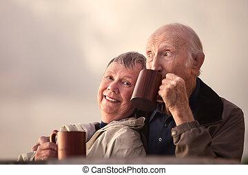 adorable, couples aînés