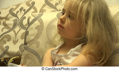 Adorable Cute Painter Girl With Pen Create a Picture -...