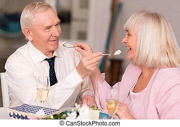 Adorable elderly couple being cute - Precious moments....
