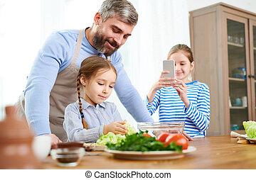 Adorable Family Scene