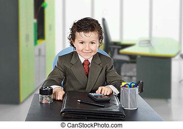 Adorable future businessman