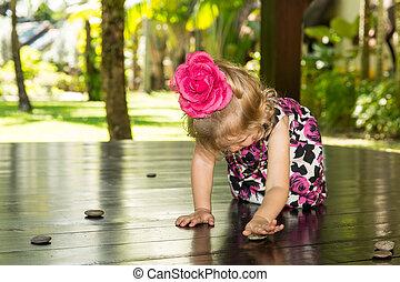 adorable, girl, petit enfant