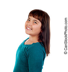 Adorable girl with eleven years old