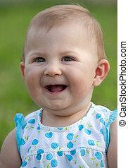 Adorable happy baby girl