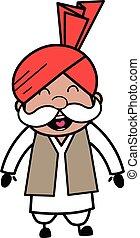 Adorable Haryanvi Old Man cartoon