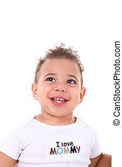 Infant Baby Boy on White Background