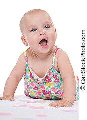 Adorable infant girl