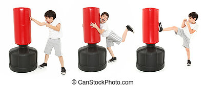Adorable Kick Boxing Boy - Adorable 8 year old boy...