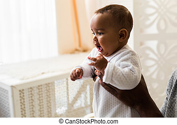 Adorable little african american baby boy - Black people