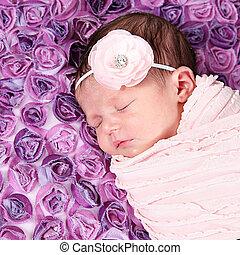 Adorable little baby girl