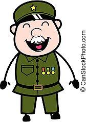 Adorable Military Man cartoon