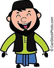 Adorable Muslim Man cartoon