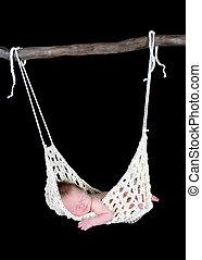 adorable newborn suspended in hammock - sweet newborn...
