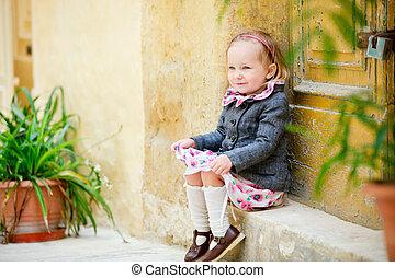 adorable, petite fille