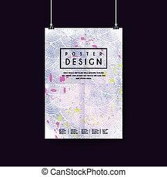 adorable purple poster template design