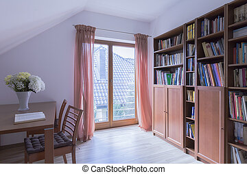 Adorable reading room for book lovers