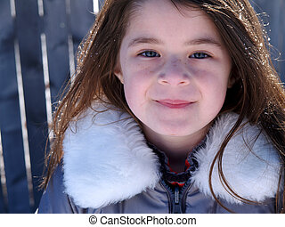 Adorable Snow Girl