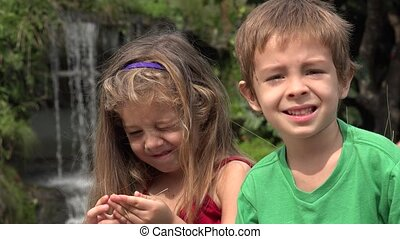 Adorable Toddler Brother And Sister