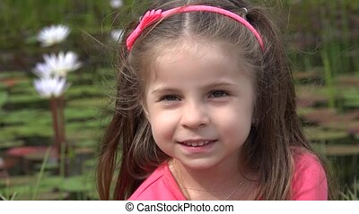 Adorable Toddler Girl Smiling