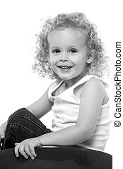 Adorable toddler - Portrait of an adorable little three year...