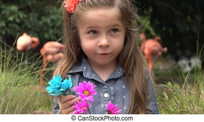 Adorable Toddler with Flowers