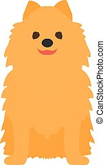 Adorable young lap-dog Yorkshire Terrier vector isolated on white.