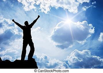adoración, a, dios