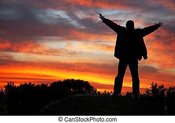 adoración, cielo
